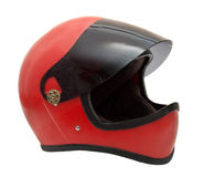 Old red helmet Royalty Free Stock Photos