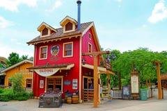 Old 801 red house disneyland hong kong Royalty Free Stock Photos