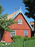 Old red house, Lithuania Stock Photography