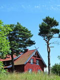 Old red house, Lithuania Stock Photo