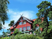 Old red house, Lithuania Royalty Free Stock Photo