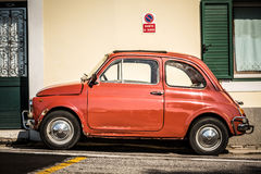 Old, red Italian car Stock Images