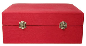 Old Red Jewelry Box Royalty Free Stock Photo