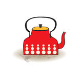 Old red kettle Stock Photography