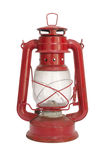 Old red lantern isolated Stock Image