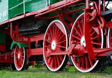 Old red locomotive Stock Photo