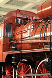 Old red locomotive Royalty Free Stock Photos