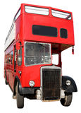 An old red London bus. Royalty Free Stock Photos