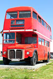 Old Red London Double Decker Bus Stock Images