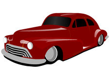 Old red Low Rider Stock Photo