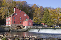 Old red mill. On a sunny day Royalty Free Stock Photos