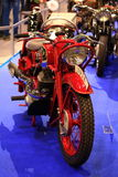 Old red motorcycle Royalty Free Stock Photography