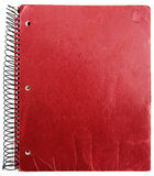 Old red notebook Royalty Free Stock Image