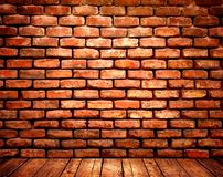 Old red orange brick wall background Stock Photos