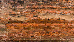 Old red and orange brick wall. Old brick wall pattern of red orange with a lot of texture useful for backgrounds and wallpapers stock photo