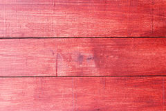 Old red painted wood wall - texture or background Stock Photo