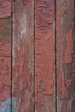 Old red painted wooden boards Royalty Free Stock Images