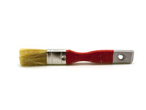 Old red painting brush Stock Photo