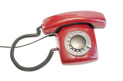 Old red phone Royalty Free Stock Photo