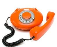 Old red phone Royalty Free Stock Photos