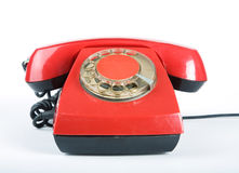 An old red phone Royalty Free Stock Photo