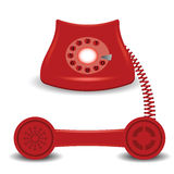 Old red phone Royalty Free Stock Image