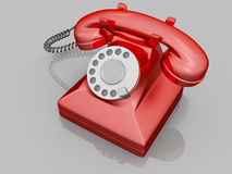 Old red phone. A red phone in the old style Royalty Free Stock Image