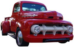 Old Red Pickup Truck Stock Image