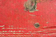 Old red plank Stock Image