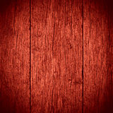 Old red planks wooden background Stock Images