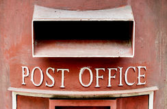 Old red post box Stock Photography