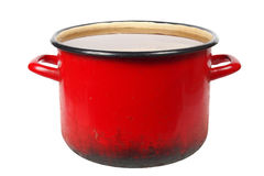 Old red pot Stock Photo