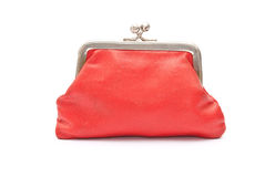 Old red purse Royalty Free Stock Photos