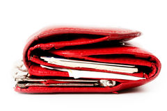 Old red purse Royalty Free Stock Image