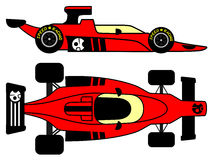 Old red racing car Royalty Free Stock Images