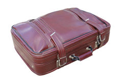 Old red road suitcase Royalty Free Stock Photography