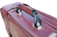 Old red road suitcase Royalty Free Stock Images