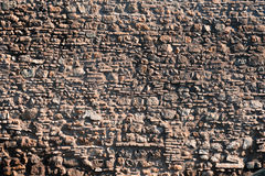 Old red roman wall bricks background Royalty Free Stock Photos