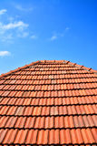 Old red roof texture tile Royalty Free Stock Images