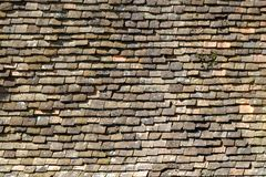 Archtecture texture - roof tiles. Old red roof tile background pattern Royalty Free Stock Photography