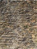 Archtecture texture - roof tiles. Old red roof tile background pattern Stock Photography