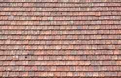 Old red roof tiles background Royalty Free Stock Image