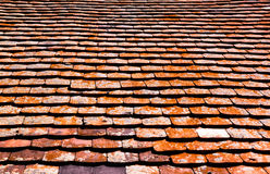 Old red roof tiles Stock Photos