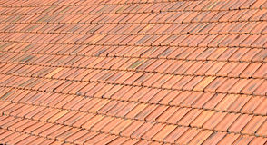 Old red roof tiles Stock Image