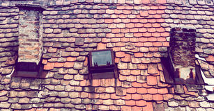 Old red roof Royalty Free Stock Photos