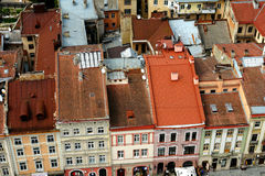 Old red roofs Stock Image