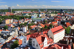 Old red roofs in Tallinn Estonia Stock Photo