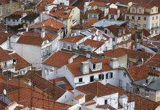 Old red rooftops Stock Image
