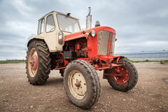Old red russian tractor Royalty Free Stock Photography