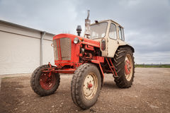 Old red russian tractor Royalty Free Stock Images